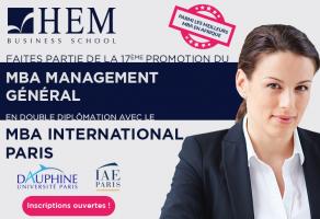 Faites partie de la 17ème promotion du MBA Management Général de HEM – Dauphine – IAE Paris !