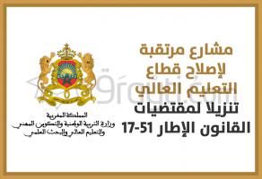 16 مشروعا مرتقبا لإصلاح قطاع التعليم العالي تنزيلا لمقتضيات القانون الإطار 17-51