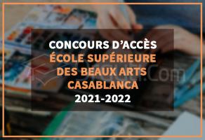 Concours d'accès à l'Ecole Supérieure des Beaux Arts ESBA Casablanca 2021-2022