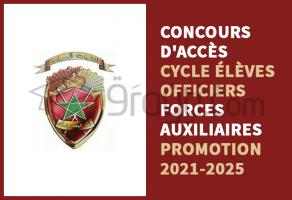 Concours d'accès au cycle des Élèves-Officiers des Forces Auxiliaires Promotion 2021-2025