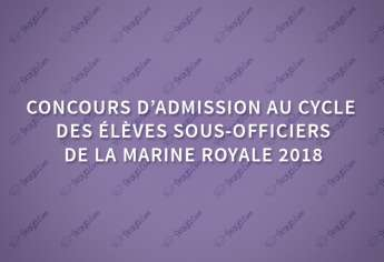 Concours élèves sous officiers de la Marine Royale 2018